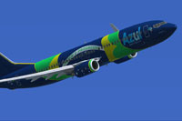 Screenshot of Azul Boeing 737-800 in flight.