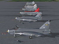 Screenshot of RAF F6's on the ground.