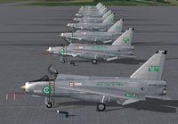 Royal Saudi Air Force F53's and T55's on the ground.