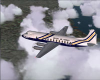 Screenshot of BAF Viscount 806 in flight.