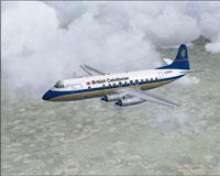 Screenshot of BCAL Viscount 806 in flight.
