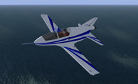 Screenshot of BD-5J in flight.
