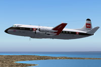 Screenshot of BEA-Malta Vickers Viscount 802 in flight.