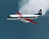Screenshot of BEA Malta Viscount 802 in flight.