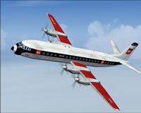 Screenshot of BEA Vickers Vanguard in flight.