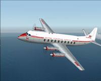 Screenshot of BEA Viscount 700 Prototype in flight.