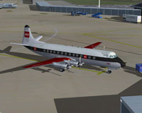Screenshot of BEA Viscount 802 on the ground.