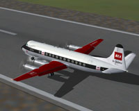 Screenshot of BEA Viscount 802 on runway.