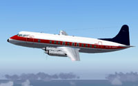 Screenshot of BEA Viscount 806 in flight.