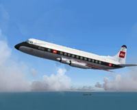 Screenshot of BEA Viscount 806 in flight.