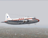 Screenshot of BKS Vickers Viking 1B in flight.