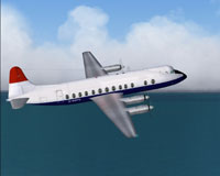 Screenshot of BMA Viscount 814 in flight.