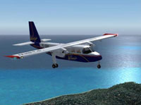 Screenshot of Norman BN-2 Islander in flight.