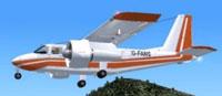 Screenshot of BN-2A FANS Demonstrator in flight.