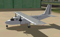 Screenshot of BN-CC2 Britten-Norman Islander ZH537 on the ground.