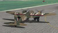 Screenshot of BOAC DeHavilland Mosquito BIV on the runway.