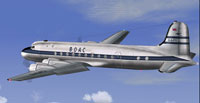 Screenshot of BOAC Douglas DC-4 in flight.
