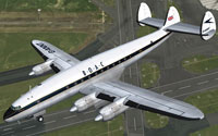 Screenshot of BOAC Lockheed L-749A in flight.