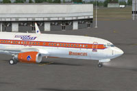 Screenshot of BSU Boeing 737-800 on the ground.