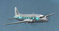 Screenshot of BWIA British West Indian Airways Vickers in flight.
