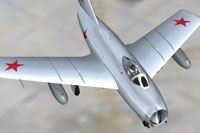 Screenshot of polished MiG 15 with updated textures.
