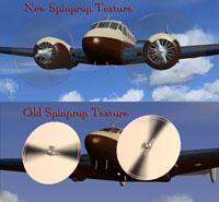 (Bottom) Old spinprop textures. (Top) New spinprop textures.