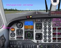 Screenshot of Beech B1900D 2D Panel.