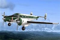 Screenshot of Beech D-18/UC-45J in flight.