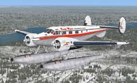 Screenshot of Beech Expeditor Mk.III in flight.