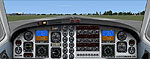Screenshot of Beech King Air 350 Doublescreen Panel.