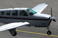 Screenshot of Beechcraft A36 Bonanza N1091G on the ground.