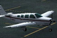 Screenshot of Beechcraft A36 Bonanza ZS-MKS on the ground.