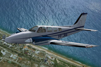 Screenshot of Beechcraft B58 Baron PP-JRB in flight.