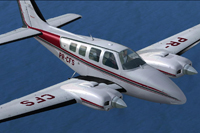 Screenshot of Beechcraft B58 Baron PR-CFS in flight.