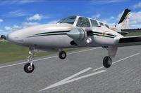 Screenshot of Beechcraft B58 Baron PR-FUM taking off.
