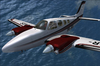Screenshot of Beechcraft B58 Baron PR-JGS in flight.