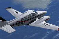 Screenshot of Beechcraft B58 Baron PR-PVJ in flight.