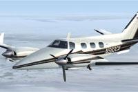Screenshot of Beechcraft B60 Duke in flight.