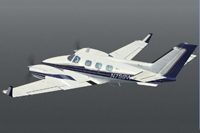 Screenshot of Beechcraft B60 Duke in flight.