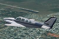 Screenshot of Beechcraft Baron 50 LV-CHY in flight.