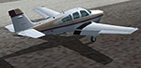 Screenshot of Beechcraft Bonanza F33A LV-VBI on the ground.