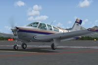 Screenshot of Beechcraft Bonanza F33A LV-VCV on the ground.