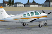 Screenshot of Beechcraft Bonanza N456HX on the ground.
