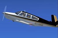 Screenshot of Beechcraft Bonanza V35TC in flight.