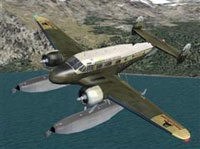 Screenshot of Beechcraft D18S Amphibian in flight.