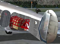 Screenshot of cargo visible in the hold of Beechcraft D18S.