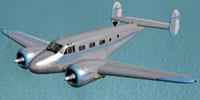 Screenshot of Beechcraft D18S in flight.