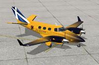 Screenshot of Beechcraft Duke B60 DDL129 on the ground.