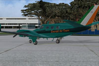 Screenshot of Beechcraft Duke B60 DDL130 on the ground.