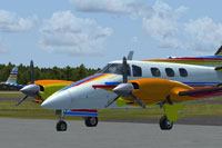 Screenshot of Beechcraft Duke B60 KS2213 on the ground.